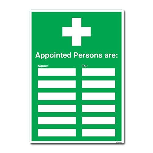 Britischen Standard Erste Hilfe Schild Sicherheit Aufkleber–ernannt Personen sind–(210x 297mm) von Lichtschalter CO