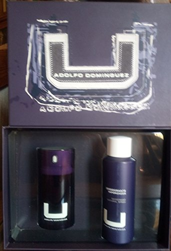 u man adolfo dominguez 75 ml 2.5 floz+desosorante spray 200 ml 6.8 floz