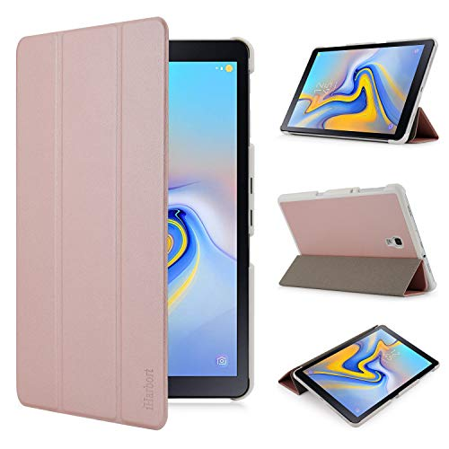 iHarbort Samsung Galaxy Tab A 10.5 Hülle Cover (2018 Version SM-T590 / T595) - Ultra dünn Hülle Etui Schutzhülle Holder Stand mit Smart Auto Wake/Sleep Funktion, Rose Gold