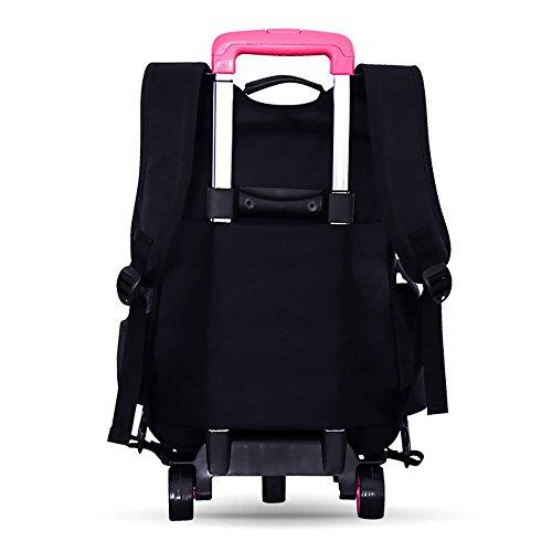 KINDOYO Jungen Mädchen wasserdichte Nylon Schultaschen mit Radfahrer Hand, Gepäck Taschen, Kinder Reisetaschen, Wandertaschen, Schultertaschen für Studenten Roses