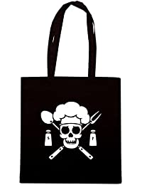T-Shirtshock - Bolsa para la compra FUN0988 chef pirate dark tshirt