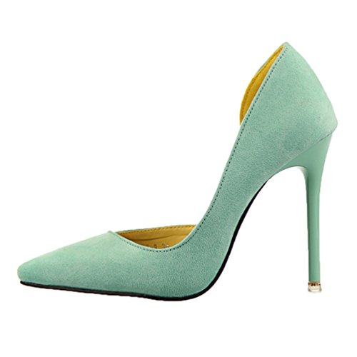 HooH Femmes Femme De Bureau D'Orsay Stiletto Escarpins Vert
