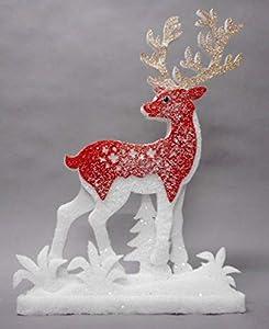 Tabor Panel C/Reno ross35X 51cm decoración Ni Objeto Navidad Regalo 518, Multicolor, 8003429825126