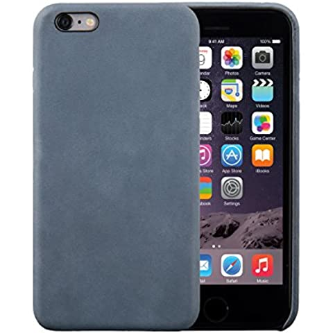 iPhone 6 Plus / 6S Plus Funda, FUTLEX Trasera Funda de auténtico cuero - Azul - Ultra fino - Diseño y corte preciso - Hecho a
