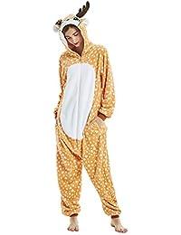 oamore Unicornio Pijama Cartoon Animal Novedad Navidad Pijama Cosplay Unisex-Adulto Ropa de Dormir Disfraces