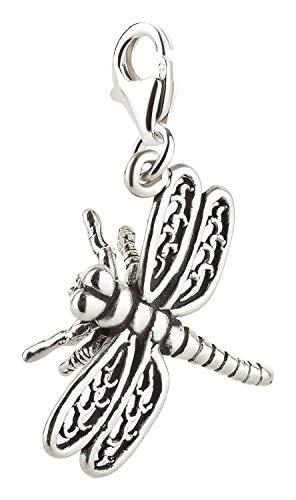 Charm Anhänger Libelle 2 aus 925 Sterling Silber