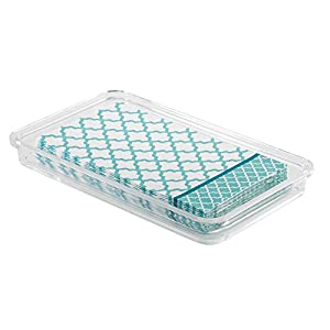 InterDesign – Clarity – Dosificador de jabón líquido para Cocina, tocador del Cuarto de baño – Claro/Pulido