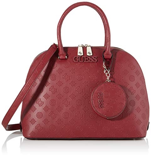 Guess - Janelle, Bolso mano Mujer, Rojo Merlot, 16,5x27x35,5