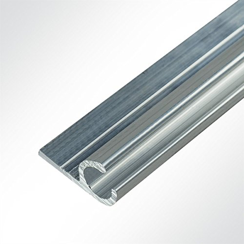 LYSEL® Kederschiene 15x30mm blank 3m 45° Grau Ø10mm für Keder 6-9mm
