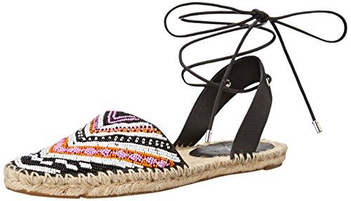 Sigerson Morrison Femmes Chaussures Plates Couleur Noir Beaded Black/White Fuchs