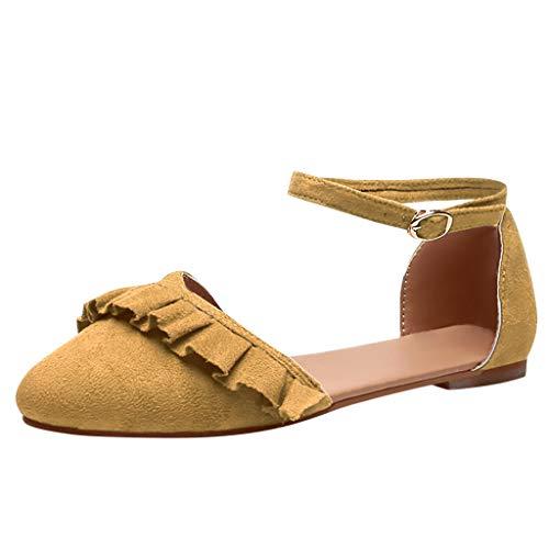 nte Flache Schuhe Ponited Toe Lässige Dame Slip-On Flacher Mund Mode Klassische Schuhe Spitze Zehe Ballerinas Satin Applique Flache Schuhe ()