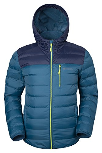 Mountain Warehouse Link Gepolsterte Herrenjacke mantel sportliche steppjacke mantel Petrolblau