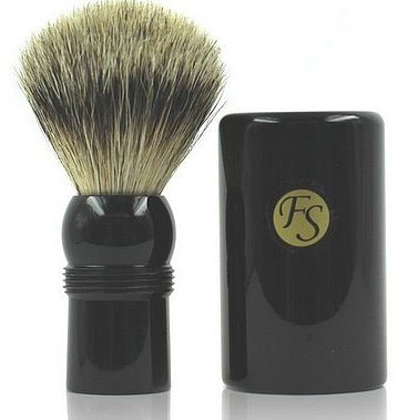Shaving Brush -- Best Badger Travel Brush with Ebony Case 19 Mm Knot by SF -