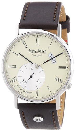 Bruno Söhnle Herren-Armbanduhr XL Rondo Analog Quarz Leder 17-13053-131