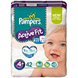 Pampers - P04275098 - Couches Active Fit Maxi T4 + 9/20kg format Geant - 42 couches