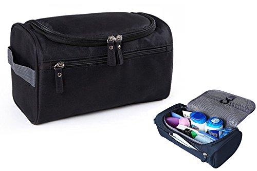 iSuperb® Robustes Herren Kulturtasche Kulturbeutel Wasserdicht Kosmetiktasche Make-up Tasche mit Haken zum aufhängen für Reise (schwarz)