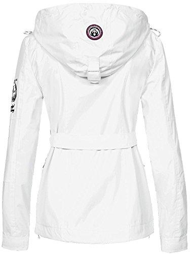 Geographical Norway Damen Übergangsjacke Bisous abnehmbare Kapuze White