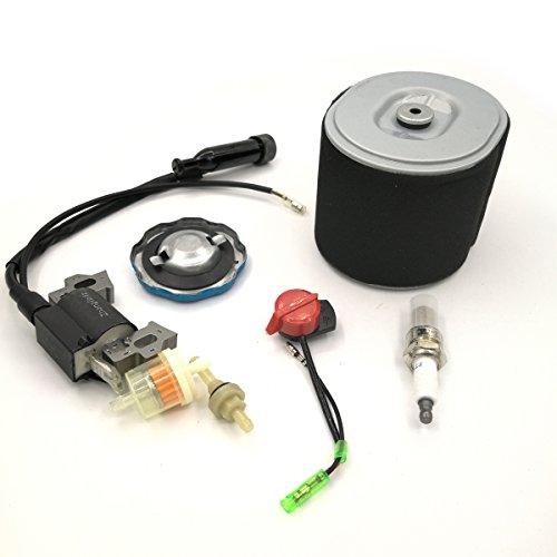 Shioshen Ignition Coil Magneto Luftfilter Gas Fuel Cap Filter Service-Kit für Honda GX340 GX390 188F 190F Motor Generator Rasenmäher