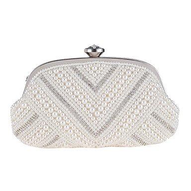 Frauen elegante Hochwertige Perle Abend Tasche Beige