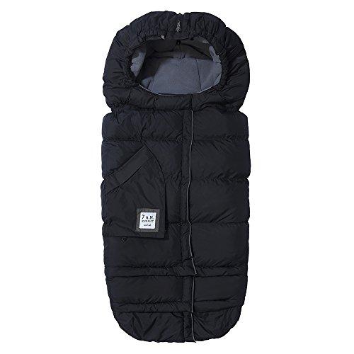 7 AM Enfant Blanket 212 Evolution, Extendable Baby Bunting, Black/ Gray bunting One Size, Größenverstellbarer Fußsack - Bunting Nylon