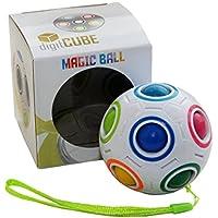 digitCUBE Magic Ball - Spielzeug Regenbogen Puzzle Zauberball für Konzentration - Geschenk für Kinder Geburtstag Adventskalender Weihnachten