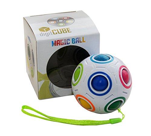 Magic Ball - Regenbogen Puzzle Zauberball für Kinder Erwachsene - Fidget Cube Ball Spielzeug für Konzentration Geschick gegen Stress Fidget Erwachsenen