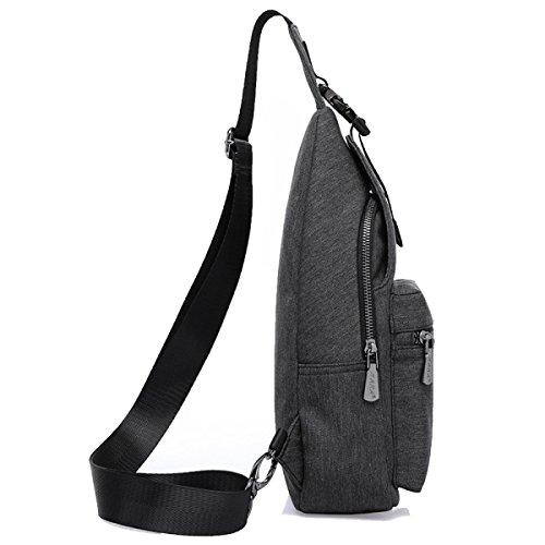 Mode Freizeit Outdoor Messenger Bag Classic Chest Pack Black
