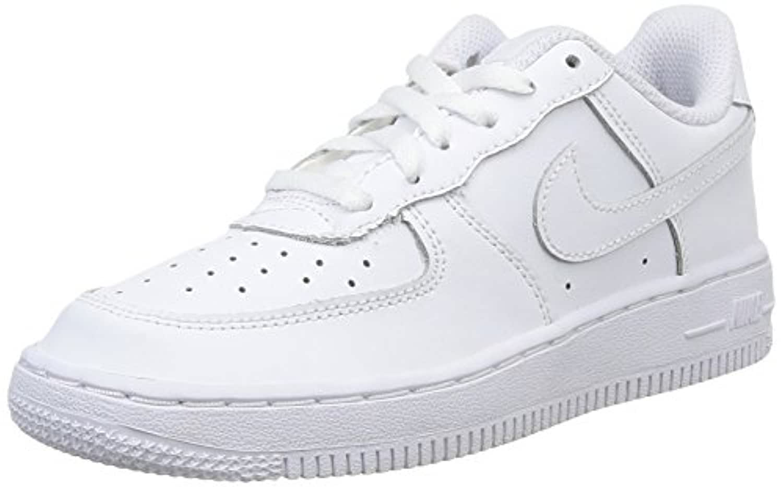 Nike Force 1 (Ps), Boys' Basketball, White, 1 UK (33 EU)