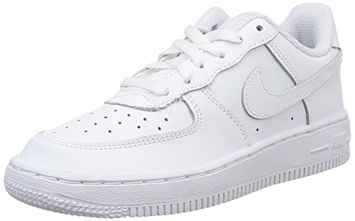 Nike 314193 117 Force 1 (PS) Unisex - Kinder Sportschuhe, Weiß, 28 EU (Nike Kinder 1 Force Air)