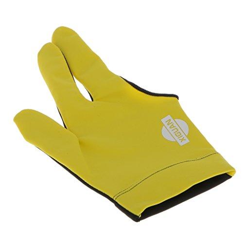 Generic Drei Finger Billardhandschuh, Rechte Hand - Gelb