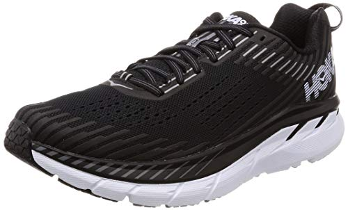 Hoka One One Hombre Clifton 5 Textile Synthetic Black White Entrenadores 42 2/3 EU