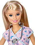 Barbie DVF57 CAREERS Nurse Role Play, Role Model Toy, Jobs, Gift for 4 to 9 Years Children Dolls