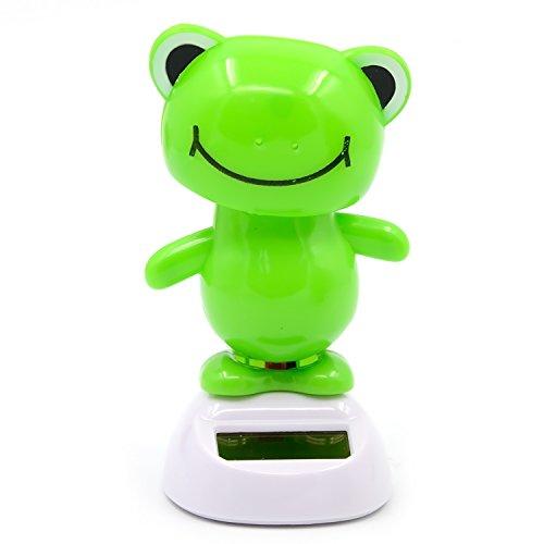 Oscillante Swing Solare Alimentato balla il giocattolo per la Decorazione di auto casa con Hold Sticker Frog