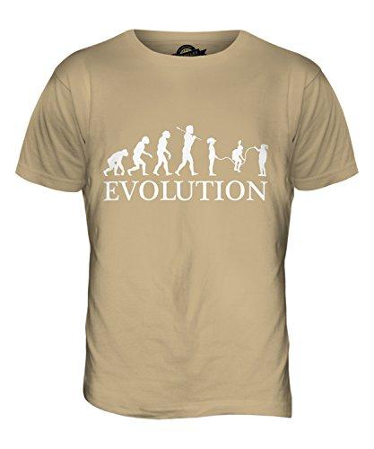 CandyMix Kinder Überspringen Evolution Des Menschen Herren T Shirt Sand