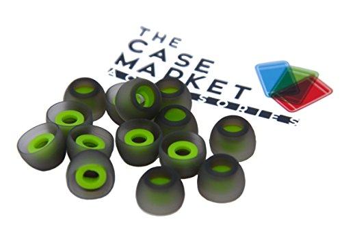 TCM SILIKON Buds {größe - M} ♫ 7 Paar (14 Stück) Silikon Ohrpolster ♫ ersatz Buds für InEar Kopfhörer. Reduziert Geräusche & Verbessert Klang Interne Größe {4-7mm} von The Case Market thumbnail