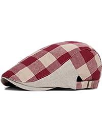 Cappello da Uomo Piatto in pelle da uomo Newsboy Cap L alta qualità di  Cuoio Cappello Uomini Cappelli Berretti… 0f914636552c