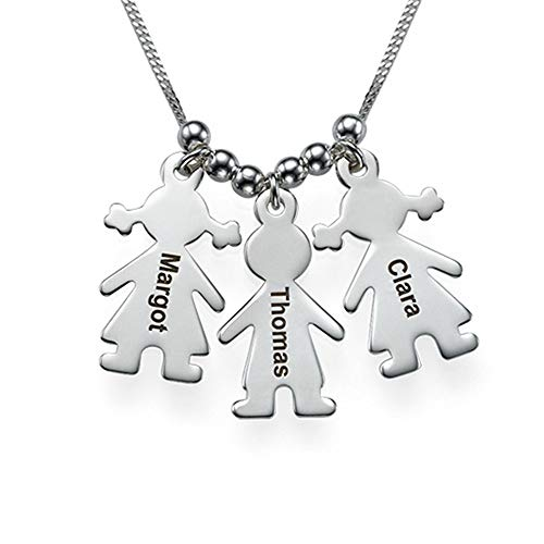 Cute Custom Name Halskette mit Kinder Charm Personalisierte Geburtstagsgeschenk(Rose-vergoldeter Sockel 14)