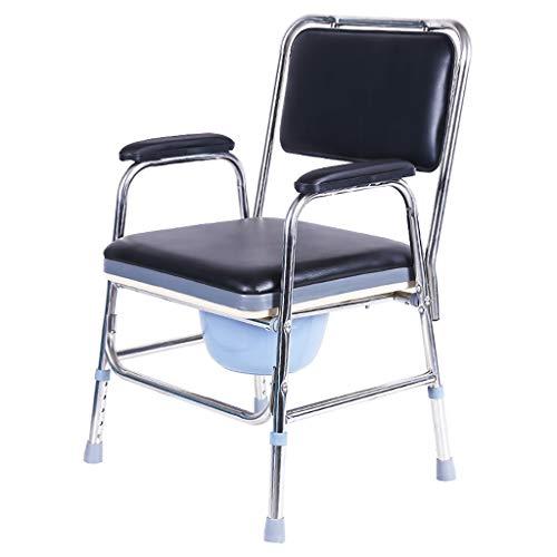 Nachttisch Wc/Bad/Toilettenstuhl Edelstahl, HöHenverstellbar FüR äLtere Menschen, Behinderte, Schwangere -
