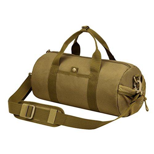 Gazechimp Taktische Sporttasche Reisetasche Großräumige Handtasche Schultertasche für Reise Urlaub Duffle Bag Handgepäck Braun