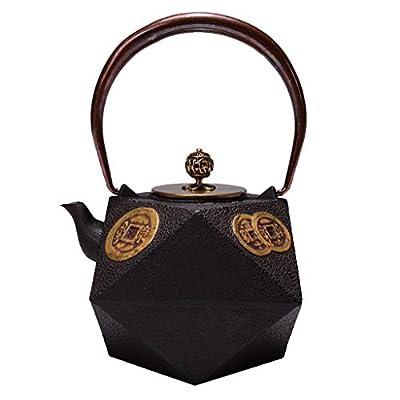 Théières Théière en fonte, bouilloire à thé Tetsubin de style japonais, 1,2 L  Bouilloire en fonte pour garder le thé au chaud  Bouilloire en fer à motif 'Jian Qian Man Guang'