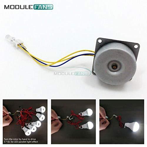 3-Phasen-Micro-bürstenlosen Generator Mini Wind Hand Generator DIY Motor 3-24V AC -