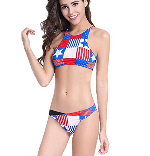WanYang Donne Sternale Stampa Swimwear Costumi Push Up Beachwear Bikini Set Bagno Femminile #_3
