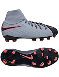 premium selection 67d54 d3f72 Nike JR Hypervenom Phelon 3 DF FG - Zapatillas de fútbol, Unisex Infantil,  Azul