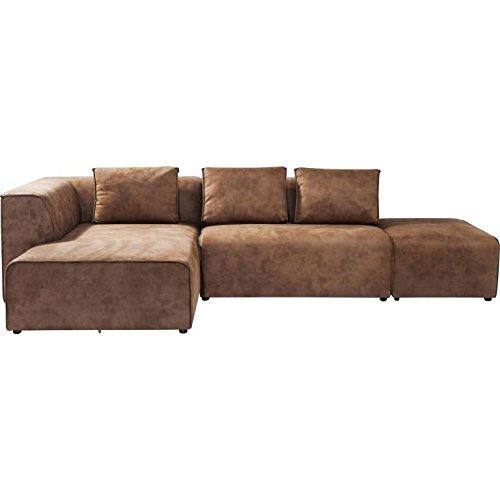 Kare design - Sofa infinity antique ottoman gauche cognac