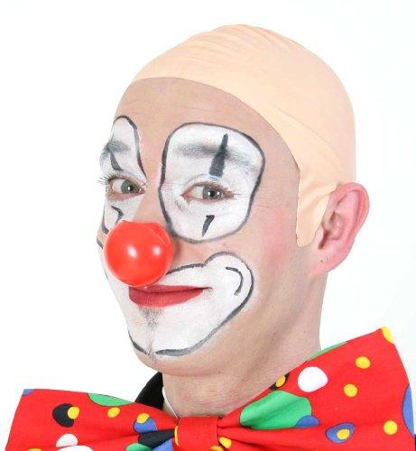 Glatze, lustige Kopfbedeckung, Scherzartikel, Clownsglatze, Clown, Zirkusclown, Kostümzubehör, Fakeglatze, (Kind Kostüm Glatze)