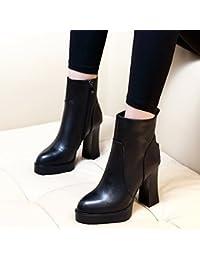 KHSKX-Le Scarpe Stivali Con Degli Stivali Col Tacco Alto Stivali Ricamati Velluto Ricamato In Stile Folk Black…