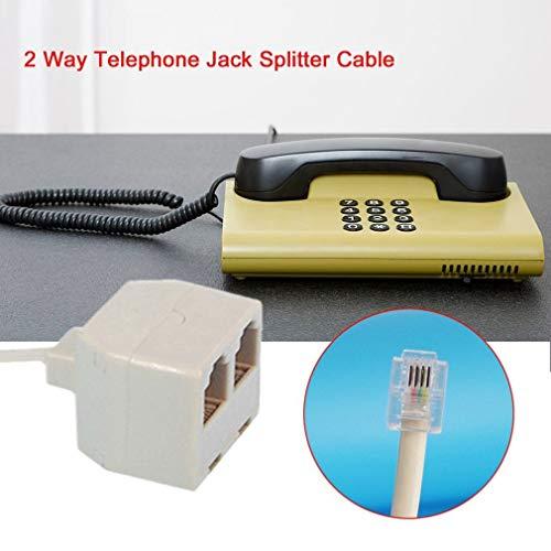 Ruiting RJ11 6P4C Stecker auf 6P4C Buchse, 2-Wege-Telefon-Splitter, Telefonleitung auf 6P4C Buchse, für Verbraucher elektronisch (Zwei-wege-telefon-splitter)