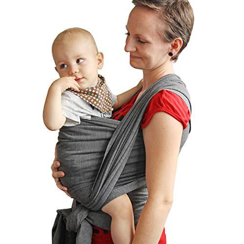 TALINU Babytragetuch – atmungsaktiv und elastisch – 520 x 55 cm