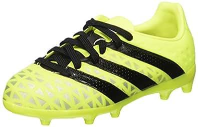 adidas Jungen Ace 16.4 Fxg Fußballschuhe, Gelb (Solar Yellow/Core Black/Silver Metallic), 29 EU
