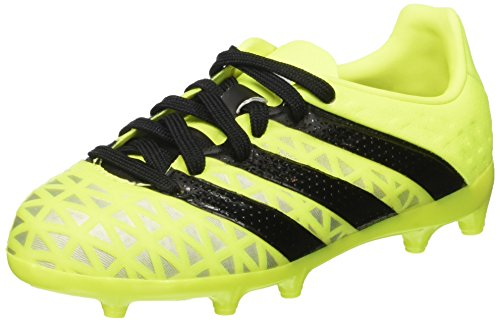 adidas Unisex-Kinder Ace 16.1 FG Fußballschuhe, Gelb (Solar Yellow/Core Black/Silver Metallic), 32 EU
